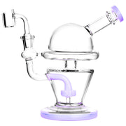 UFO Glass Dab Rig In Purple Color