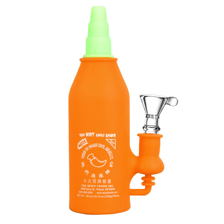 Asian Hot Sauce Silicone Water Pipe | Orange
