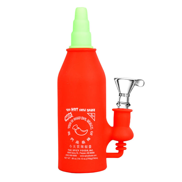 Asian Hot Sauce Silicone Water Pipe | Red