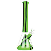 Silicone & Glass Hybrid Beaker Bong in Green Color