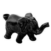 Lucky Elephant Ceramic Pipe | Black
