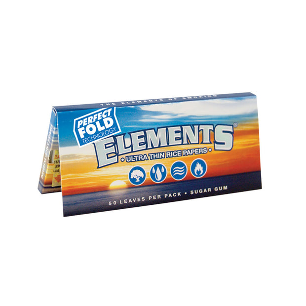 Elements Ultra Thin Rice Rolling Papers | 1 1/4 Inch