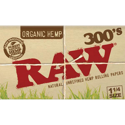 RAW Organic Hemp 300s 1 1/4 Inch Rolling Papers