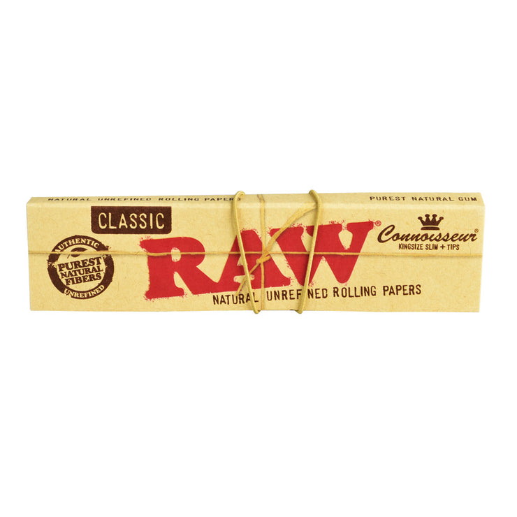 Raw Connoisseur Rolling Papers w/ Tips | Kingsize