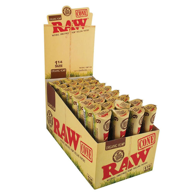 RAW Organic Hemp Cones Full Box - 1 1/4 Inch