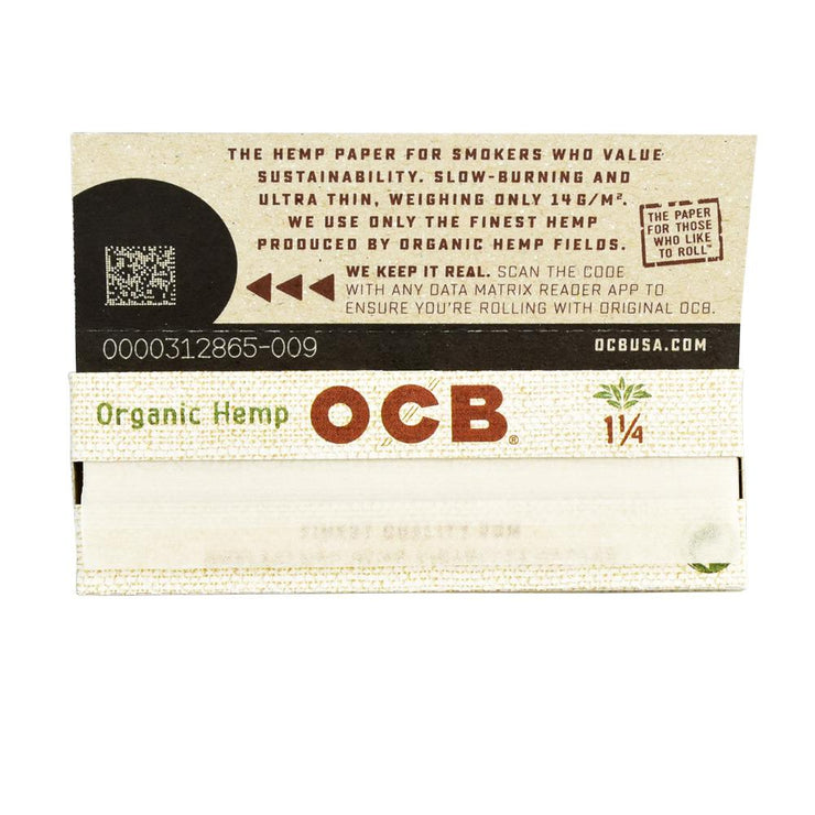 OCB Organic Hemp Rolling Papers | 1 1/4/Single Open