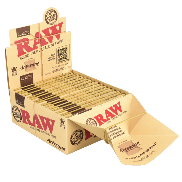 RAW Artesano Kingsize Slim Rolling Papers | Display Box