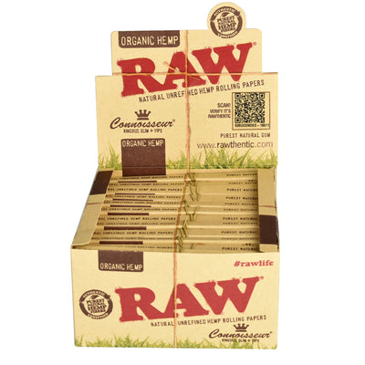 RAW Organic Connoisseur Rolling Papers | Kingsize Slim