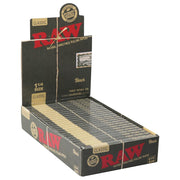Raw Black Classic Rolling Papers Full Box - 1 1/4 Inch