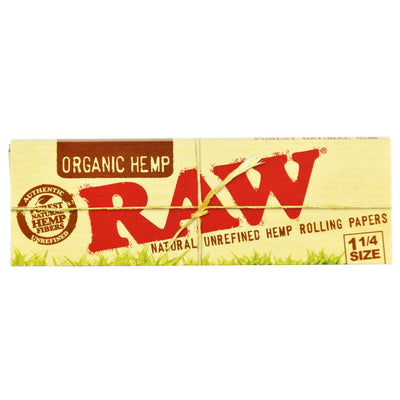 Raw Organic Hemp Rolling Papers - 1 1/4 Inch