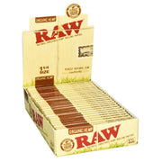 Raw Organic Hemp Rolling Papers Full Box - 1 1/4 Inch