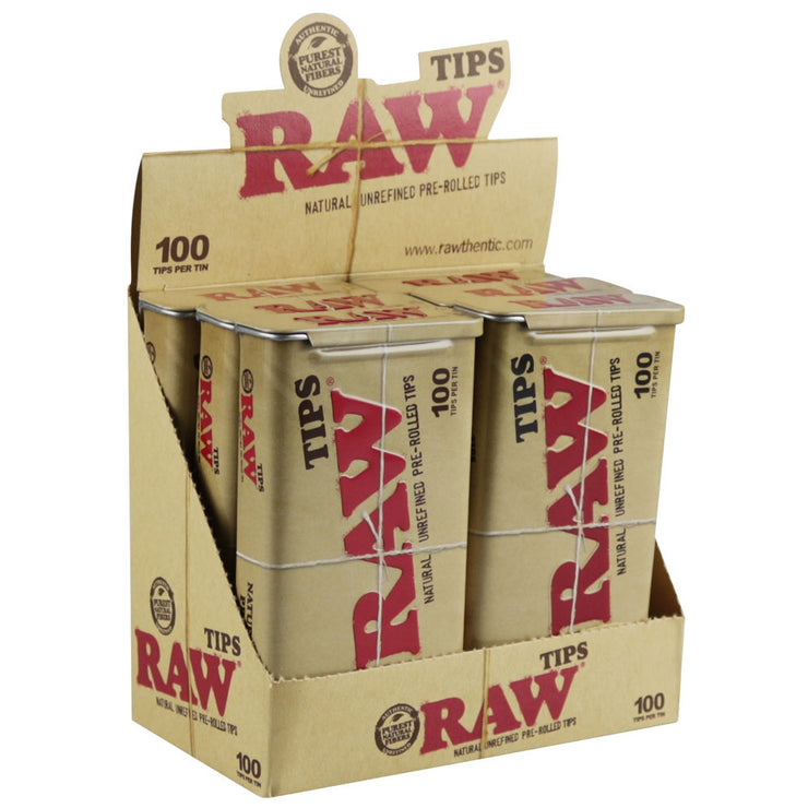 Raw Pre-Rolled Tips Tin | Display