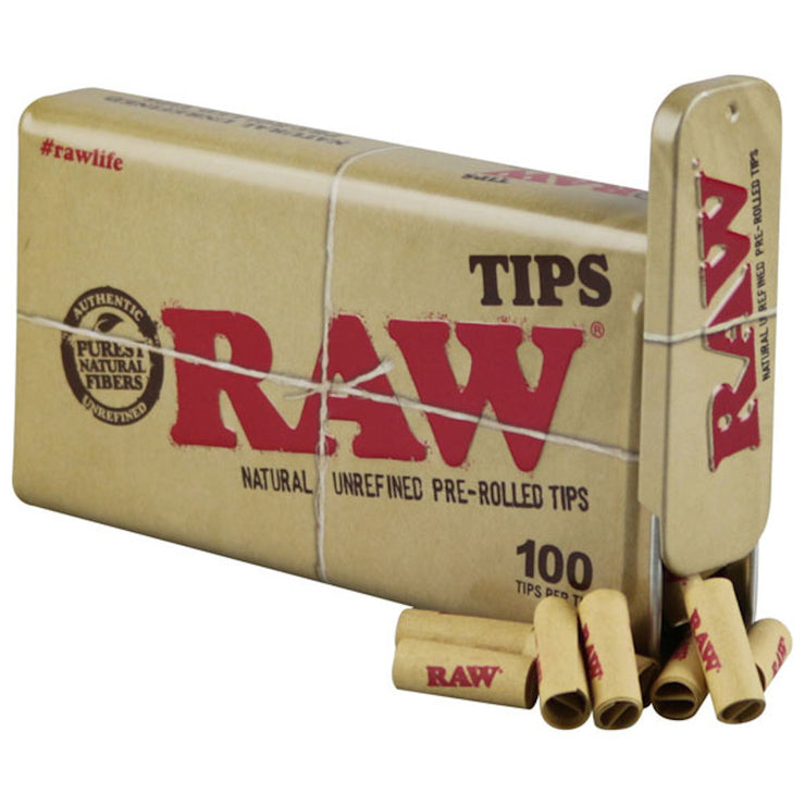 Raw Pre-Rolled Tips Tin