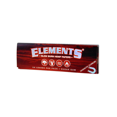 Elements Red Slow Burn Hemp Rolling Papers