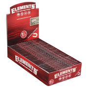 Elements Red Slow Burn Hemp Rolling Papers | Full Box