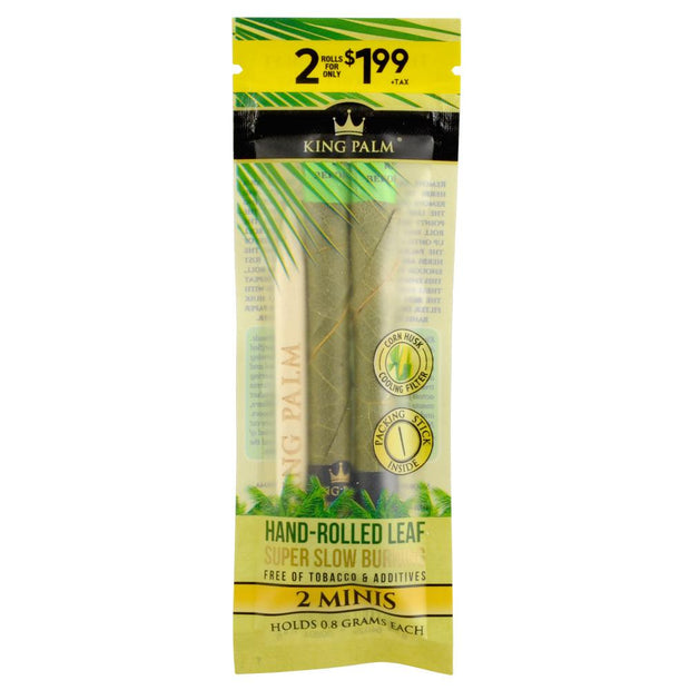 King Palm Mini Size Leaf Rolls - 2 Pack