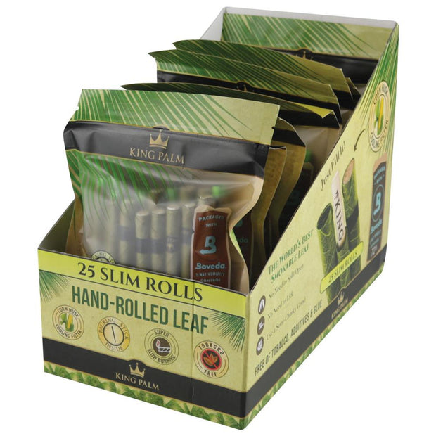King Palm Slim Size Leaf Rolls | 25pk Full Box/Unflavored