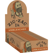 "Zig Zag Unbleached Rolling Papers | 1 1/4"" Full Box"