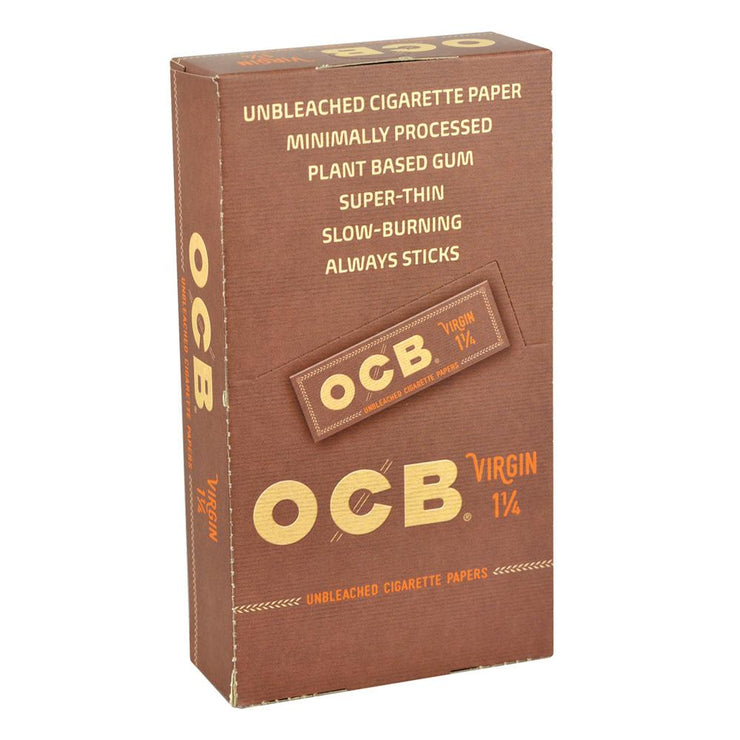 OCB Virgin Rolling Papers | 1 1/4 Inch | Full Box