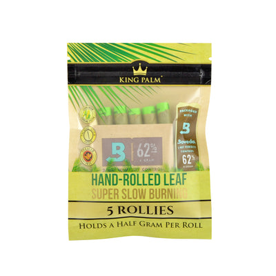 King Palm Rollies Size Leaf Rolls | 5pk Single