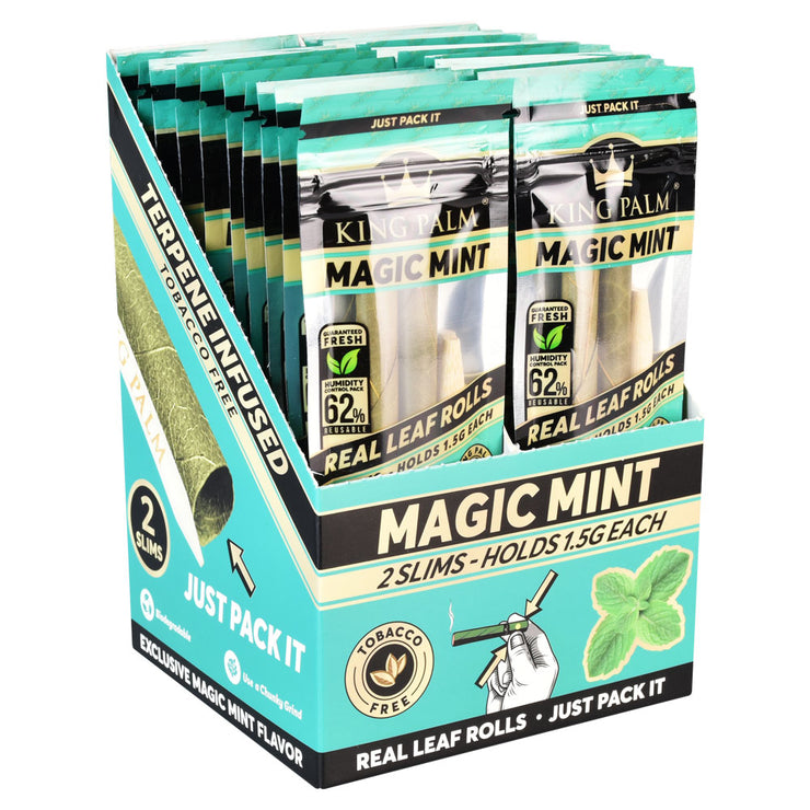 King Palm Slim Size Leaf Rolls | Magic Mint | Full Box