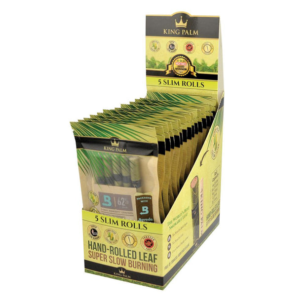 King Palm Slim Size Leaf Rolls | 5pk Full Box/Unflavored