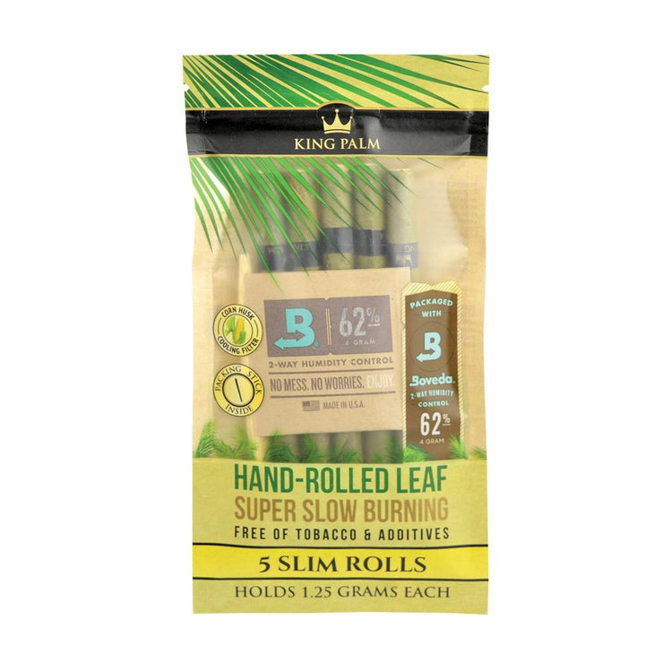 King Palm Slim Size Leaf Rolls | 5pk Single/Unflavored