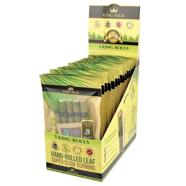 King Palm King Size Leaf Rolls - Full Box