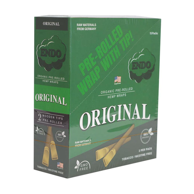 Endo Pre-Rolled Wood-Tipped Blunt Wraps