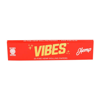 VIBES Hemp Rolling Papers | Kingsize Slim