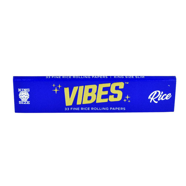 VIBES Rice Rolling Papers | Kingsize Slim Single