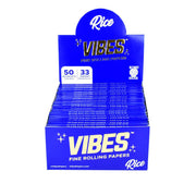 VIBES Rice Rolling Papers | Kingsize Slim Full Box