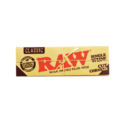 RAW Cut Corners Rolling Papers | Single Wide