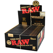 RAW Black Inside Out Rolling Papers Full Box | Kingsize Slim