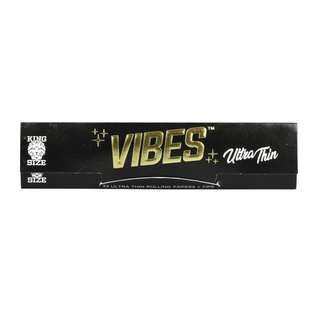 VIBES Ultra Thin Rolling Papers w/ Filters | Kingsize Slim