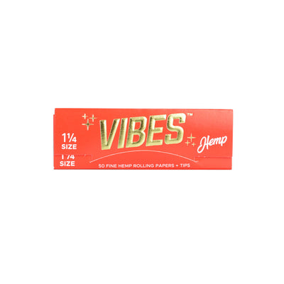 VIBES Hemp Rolling Papers w/ Tips | 1 1/4 Inch