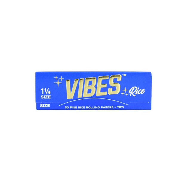 VIBES Rice Rolling Papers w/ Tips | 1 1/4 Inch