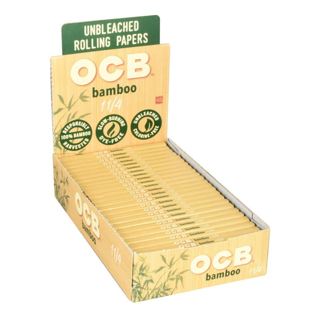 OCB Bamboo Rolling Papers Full Box - 1 1/4 Inch
