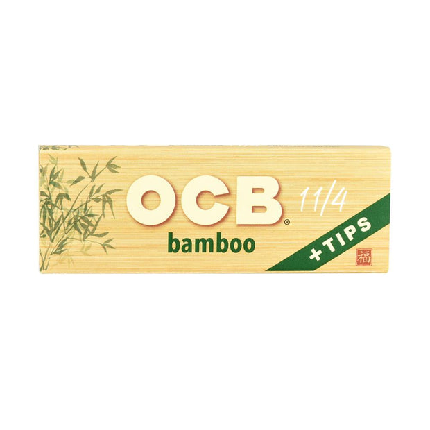 OCB Bamboo Rolling Papers - 1 1/4 Inch + Tips