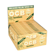 OCB Bamboo Rolling Papers - Slim + Tips