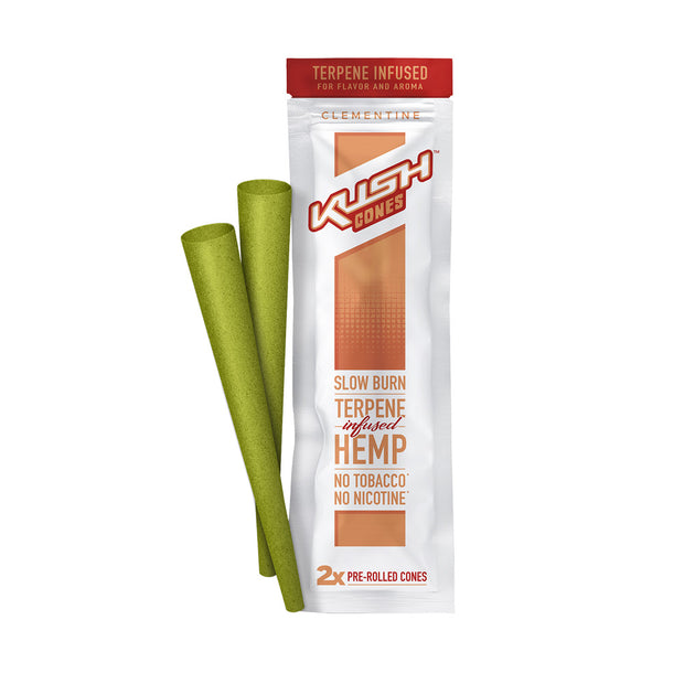 Kush Cones Terpene Infused Hemp Cones | Clementine | Single