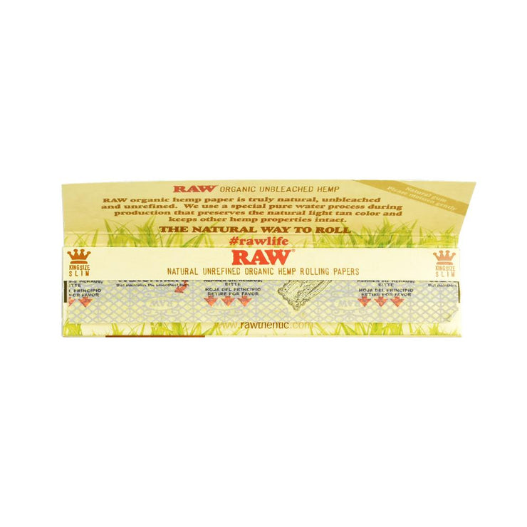 RAW Organic Hemp Rolling Papers