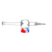 Red White Blue Reclaimer Dab Straw - Titanium Tip