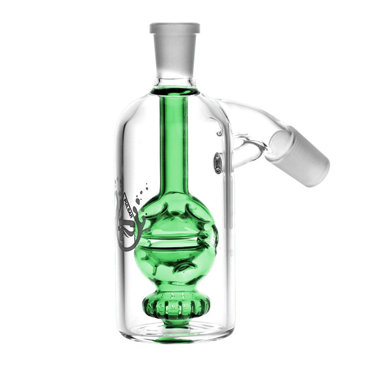 Pulsar Egg Perc Ash Catcher | 45 Degree | Green
