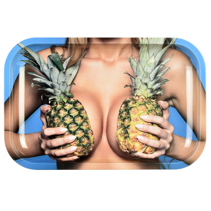 Pulsar Metal Rolling Tray | Large Pineapples | Medium