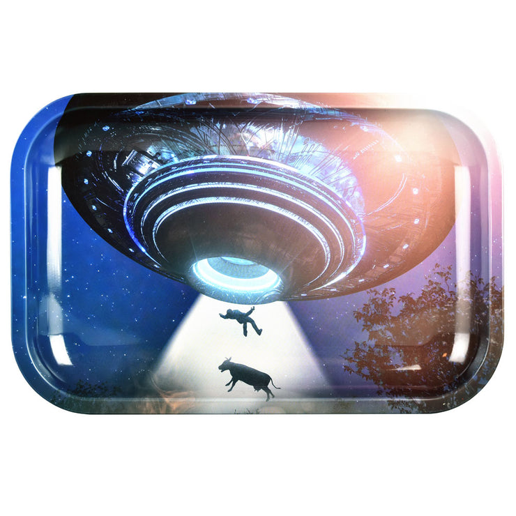 Pulsar Metal Rolling Tray | Take Me to Your Leader | Medium
