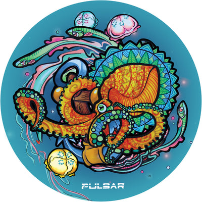 Pulsar DabPadz Round Dab Mat | Psychedelic Octopus