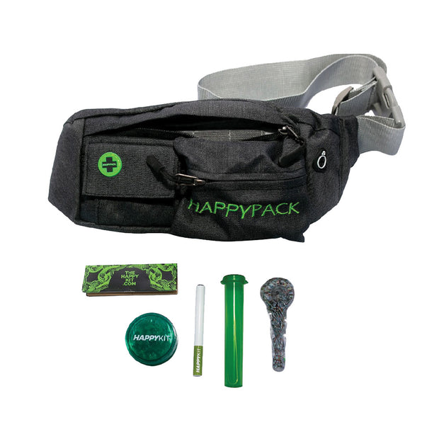 Happy Kit Happy Pack All In One Smoker's Fanny Pack Black