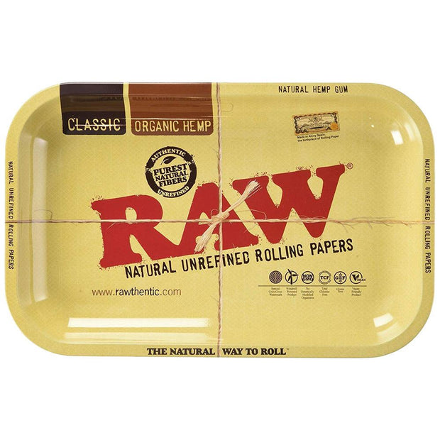 Raw Aluminum High Sided Rolling Tray | Small