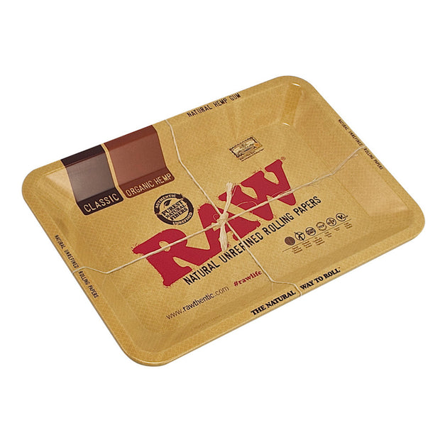Raw Aluminum High Sided Rolling Tray | X Small